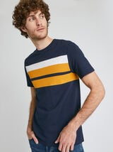 T-SHIRT COLORBLOCK MAILLE PIQUÉE