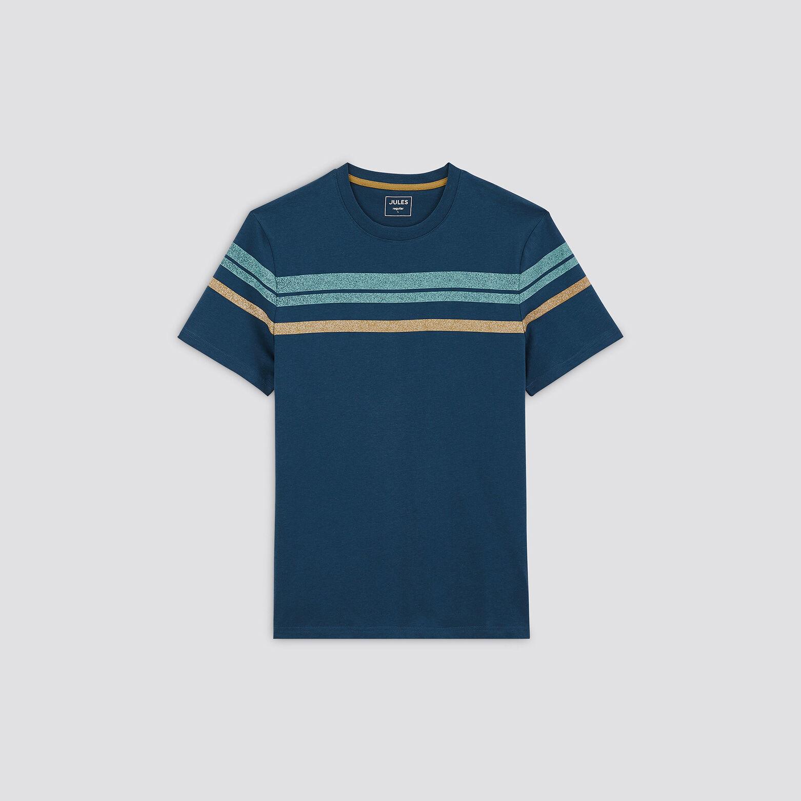 Tee-shirt rayures contrastées coton issu de l'agri