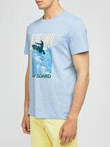 Tee-shirt print placé surf coton issu de l'agri bi