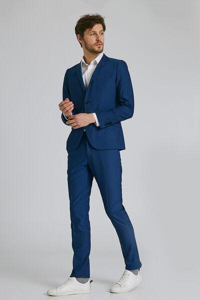 Het pakket slim kostuum - blauw