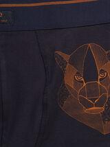 Boxer unitaire avec motif animal placé coton issu