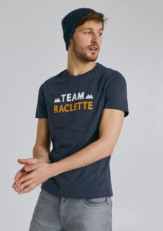 Tee shirt imprimé région ISERE/SAVOIE Bleu Homme