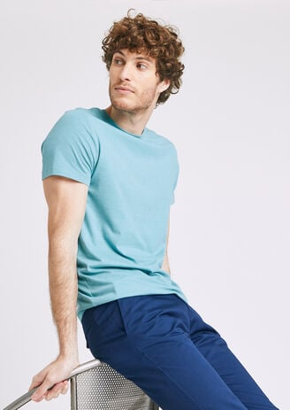 Tee shirt uni col rond s homme jules
