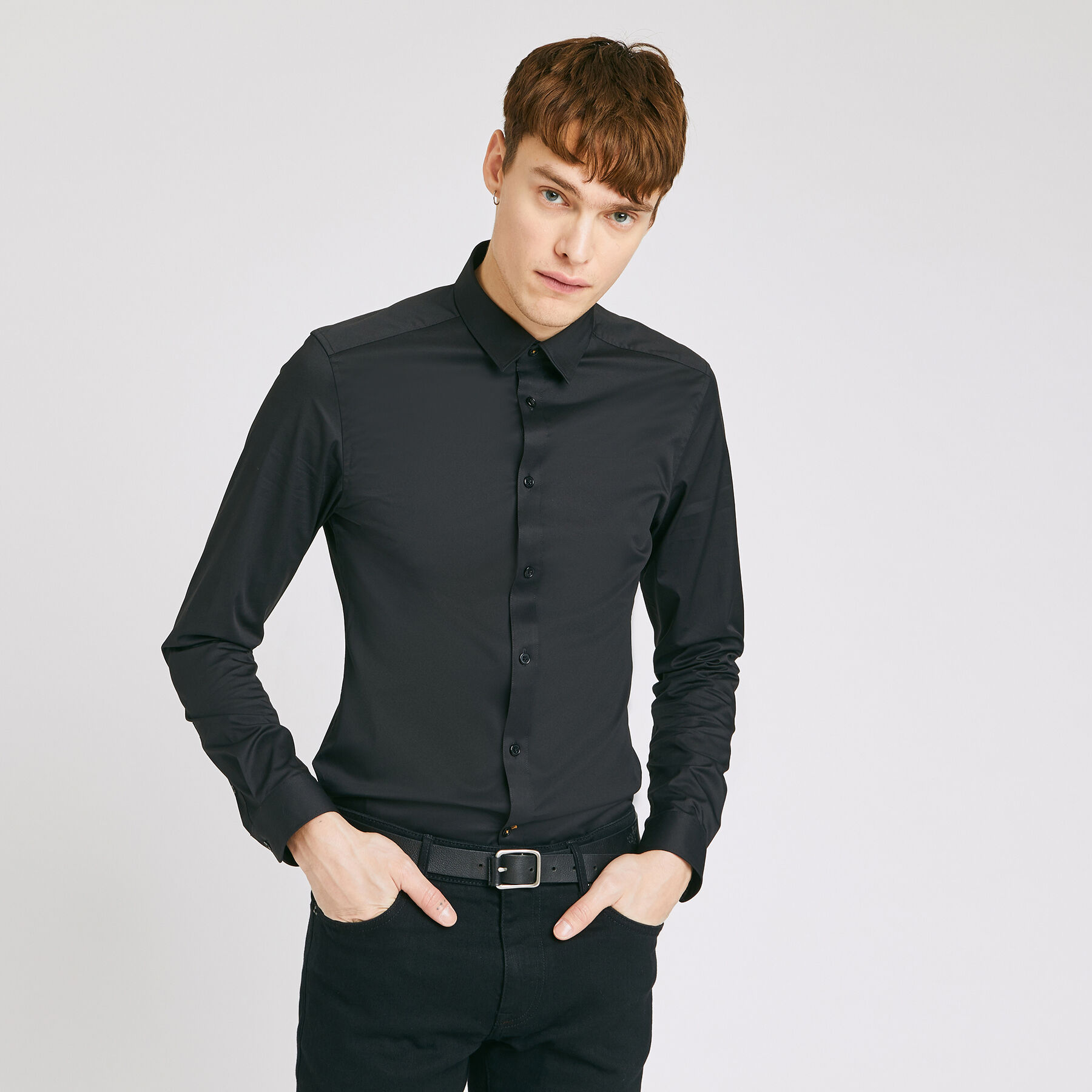 Chemise extra slim unie s homme jules