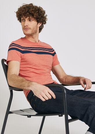 T-shirt double rayures contrastées xl homme jules