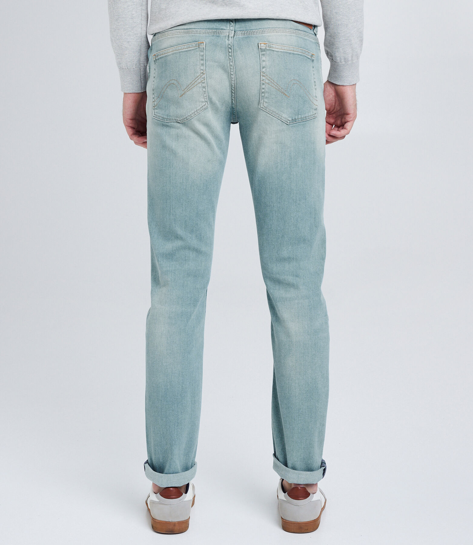 Jean Straight 5 poches bleu verdi