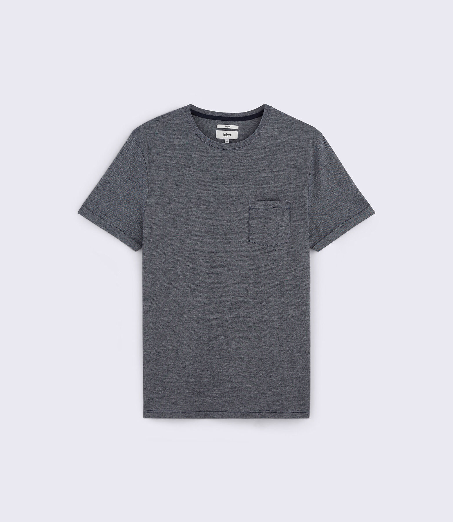 Tee shirt col rond en maille chinée