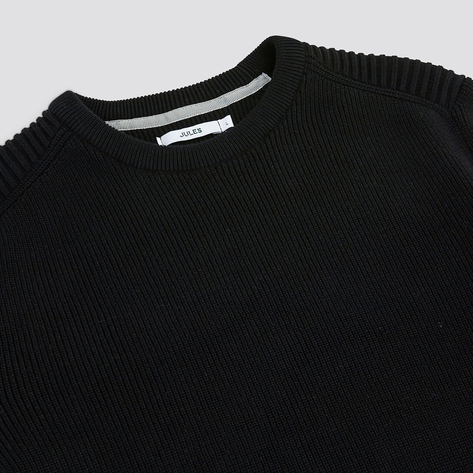 Pull col rond maille perlée