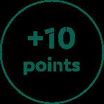 +1 point