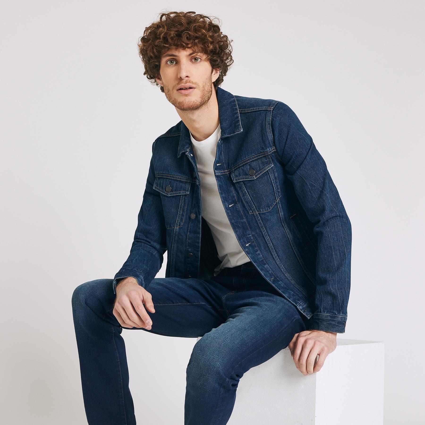 Veste en jean Bleu Homme