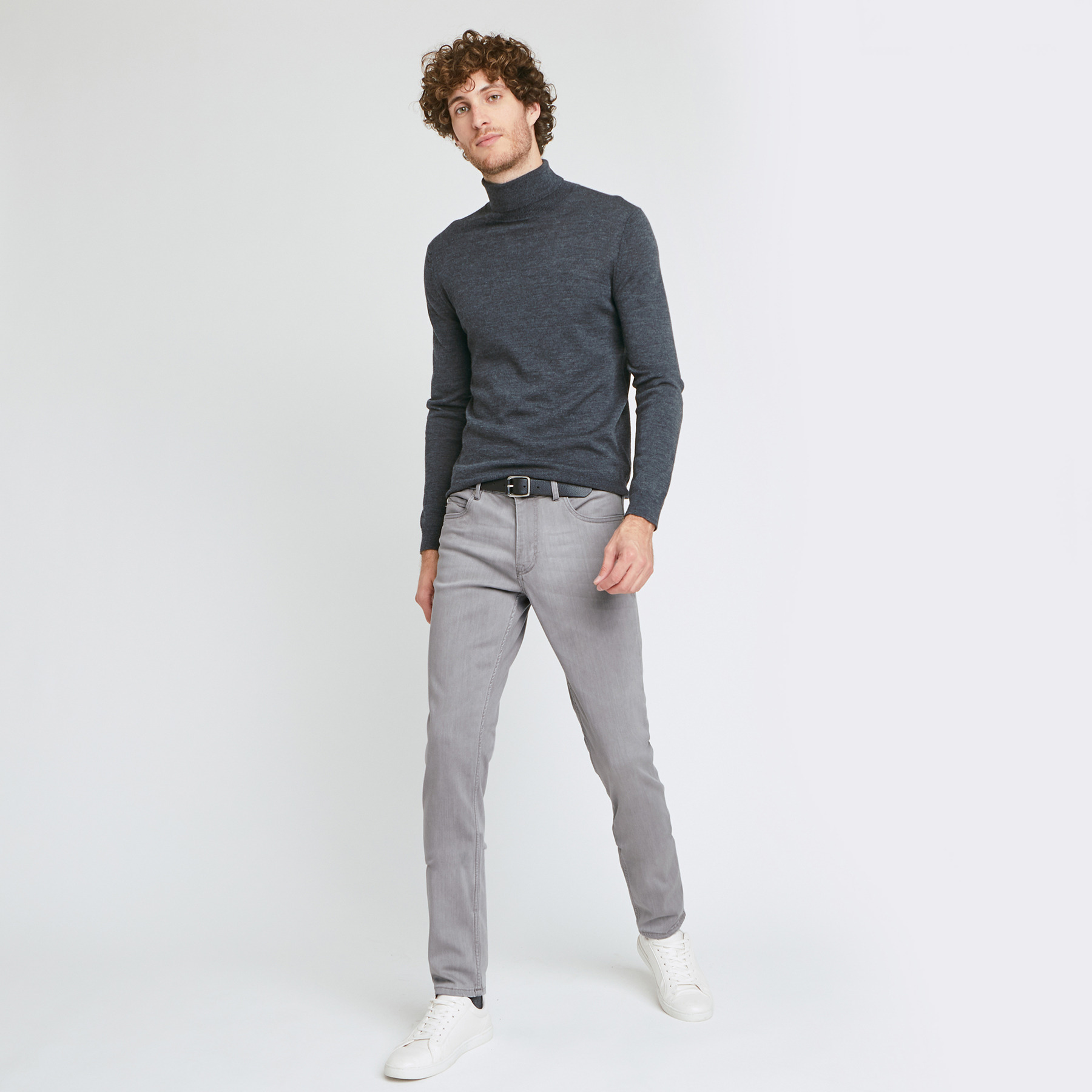 Jean slim #Tom urbanflex 4 longueurs gris Gris Homme