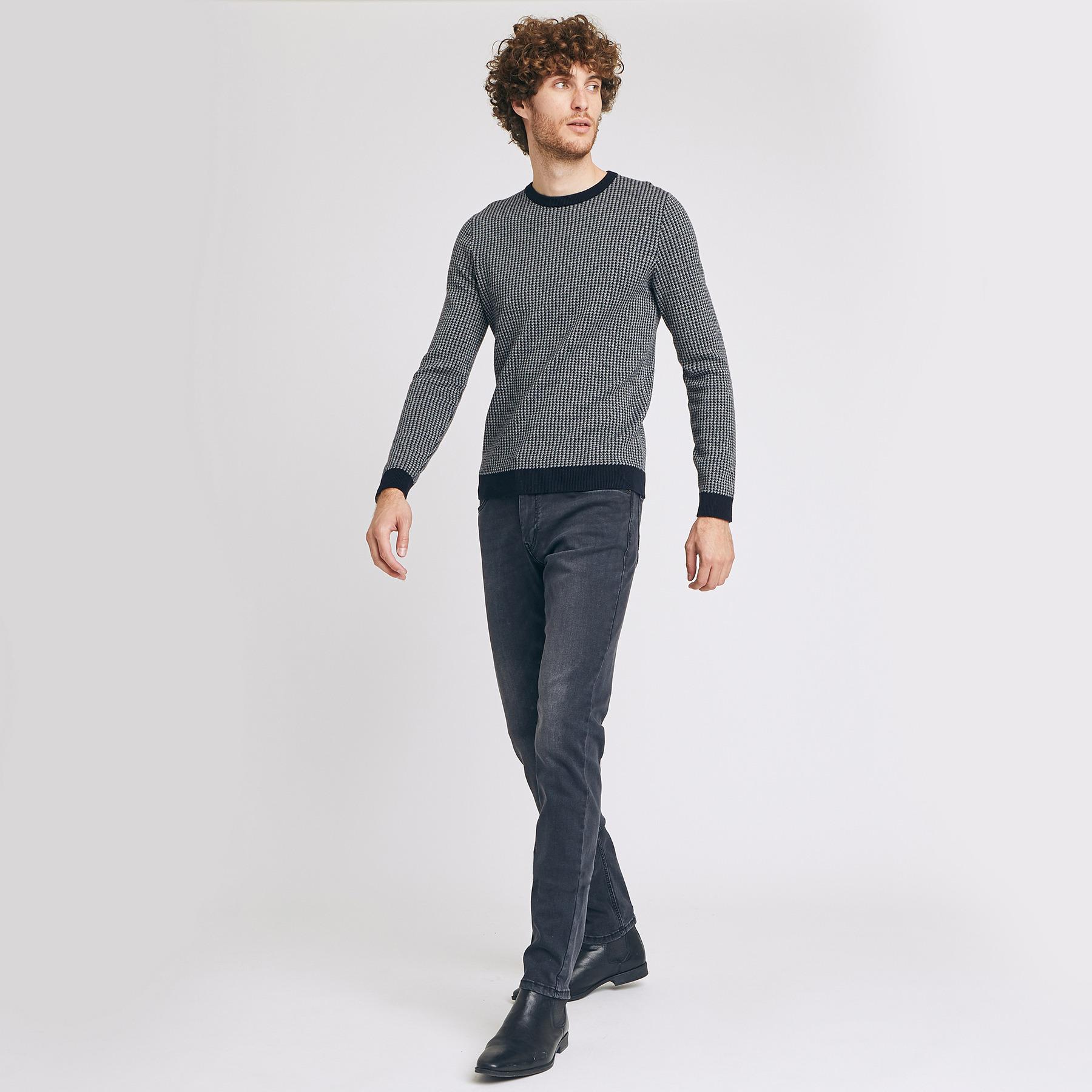 Jean slim #Tom urbanflex 4 longueurs noir lavé Noir Homme