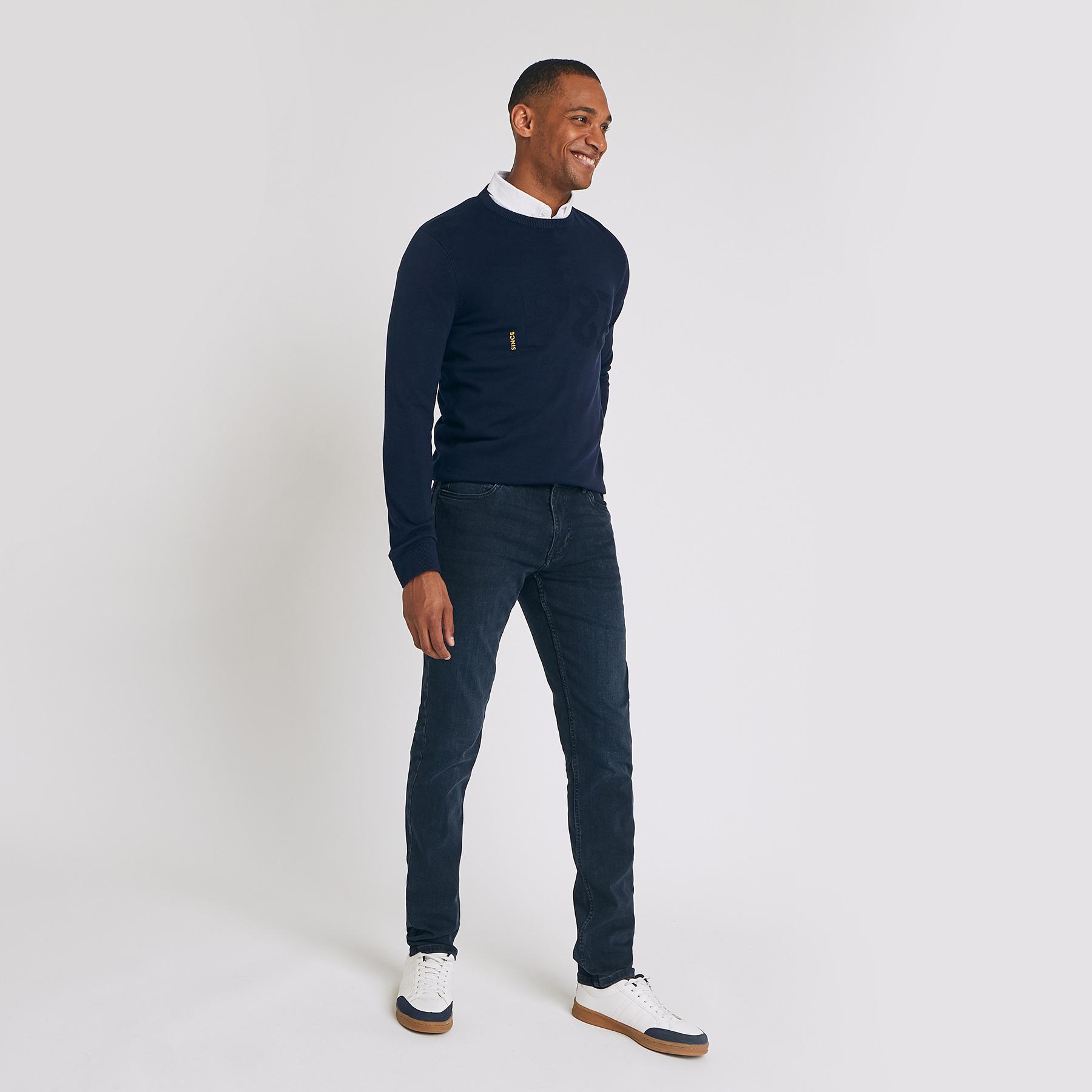 Jean slim #Tom urbanflex 4 longueurs blue black Bleu Homme