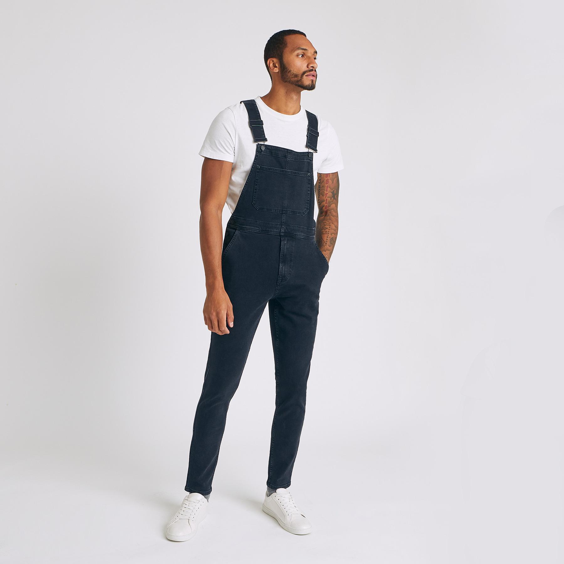 Salopette jean Noir Homme