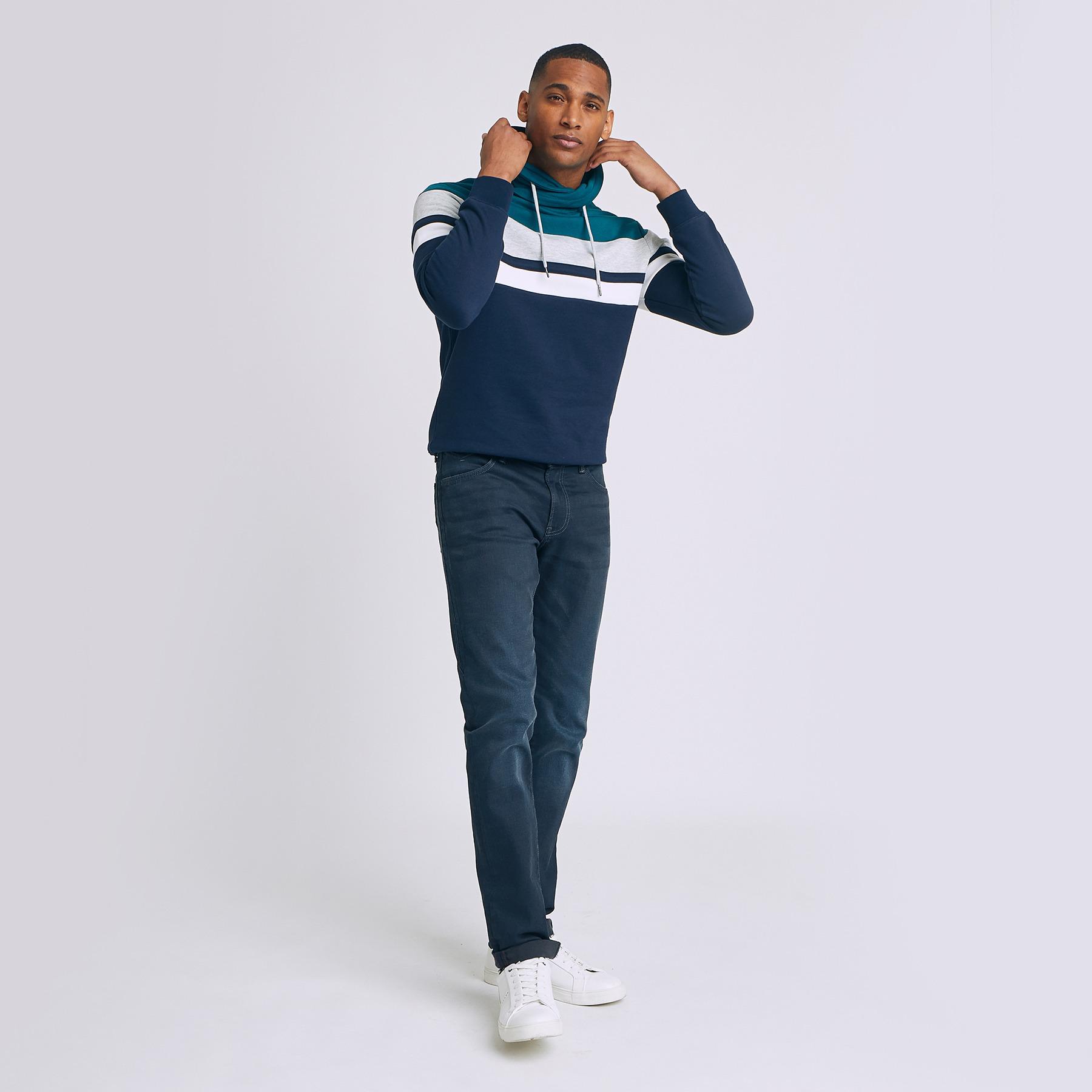 Jean  straight #Ben bleu grisé Bleu Homme