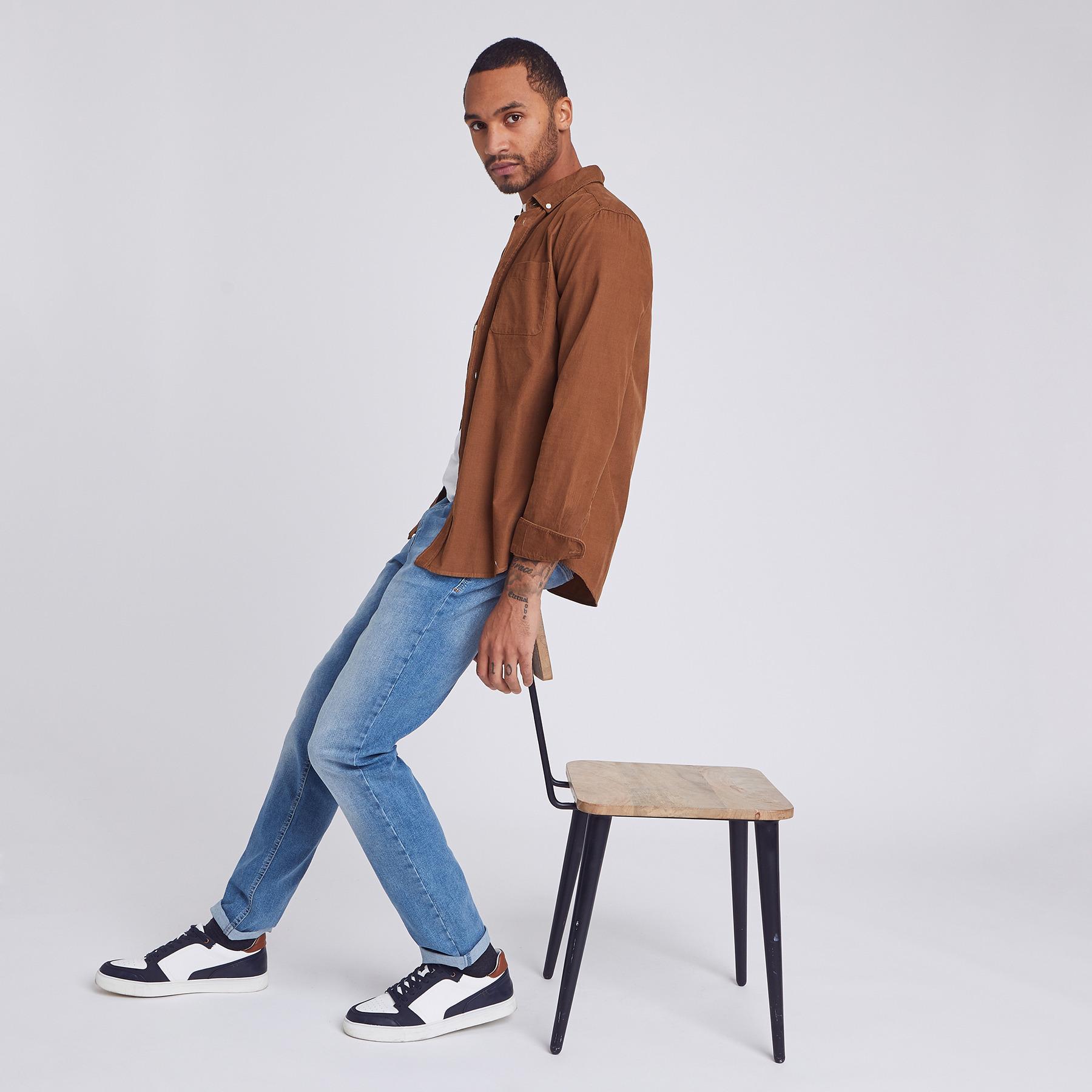 Jean straight #Ben 98% recyclé Bleu Homme