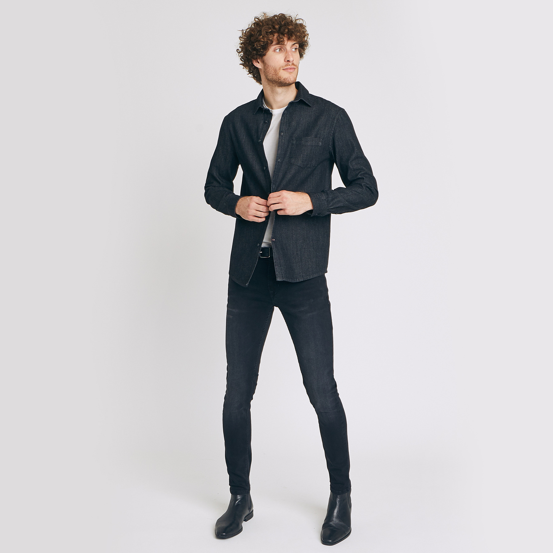 Jean skinny #Max hyperstretch noir Noir Homme