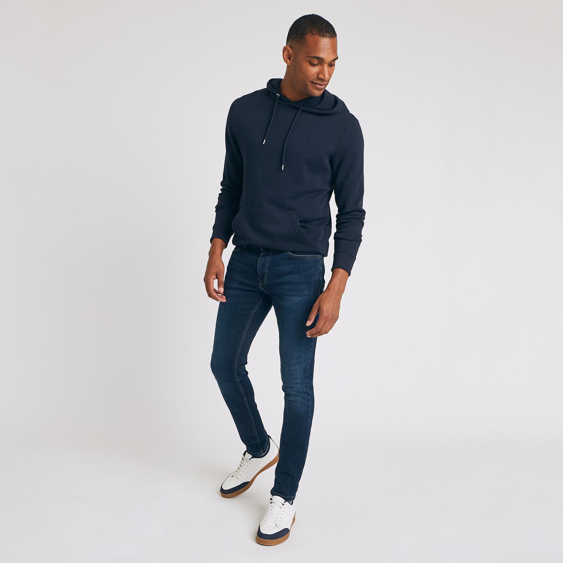 Jean skinny #Max hyperstretch blue black Bleu Homme