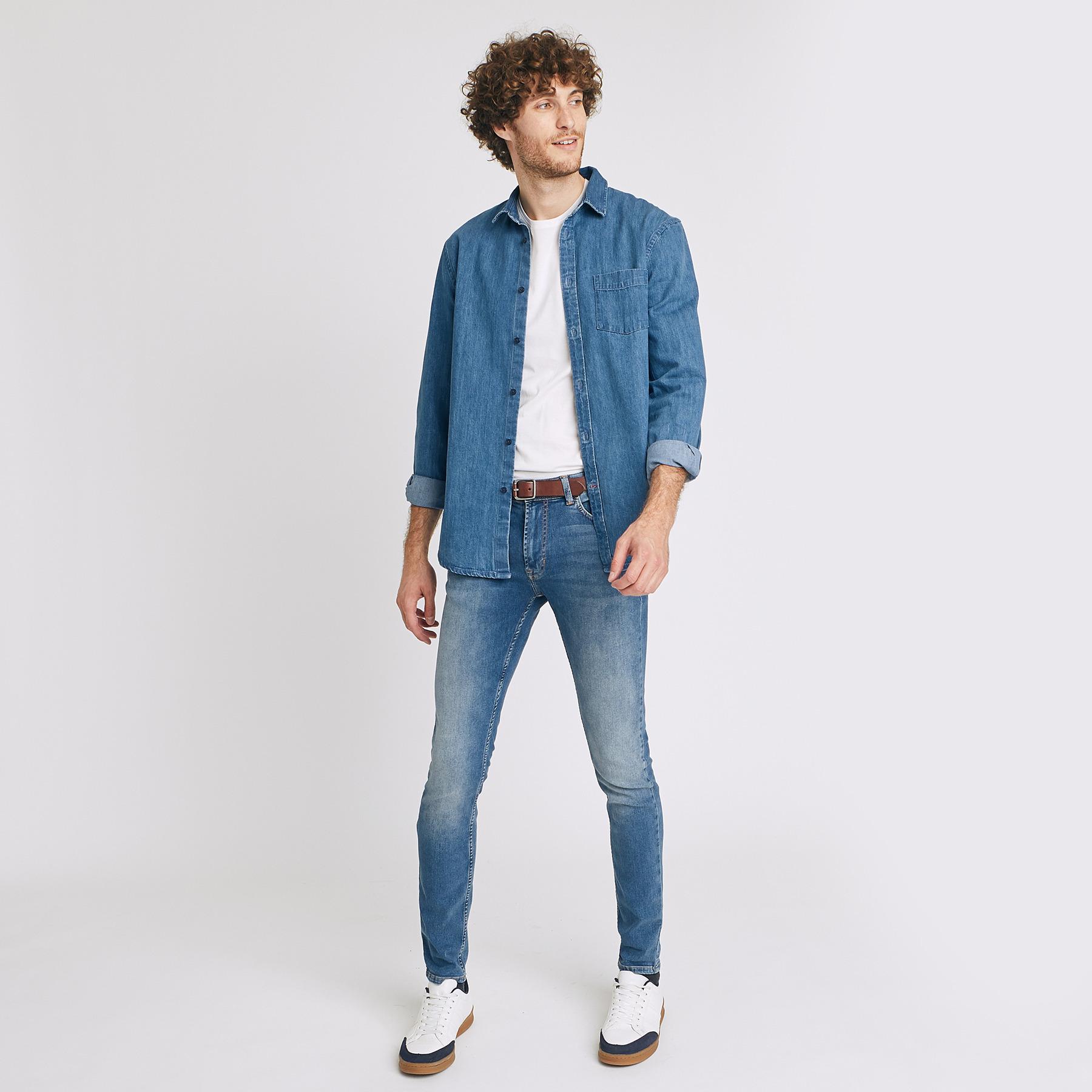 Jean skinny #Max hyperstretch Bleu Homme