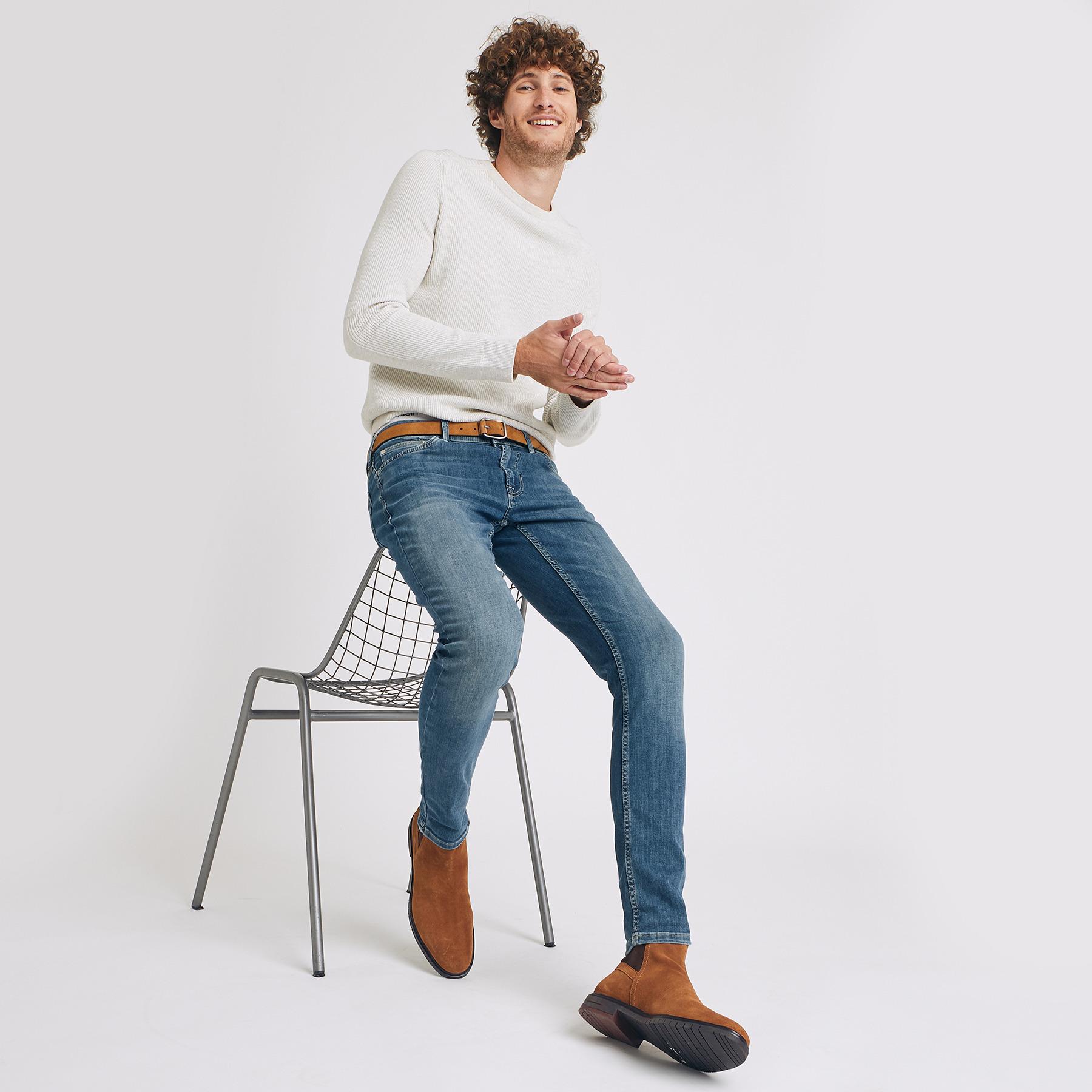 Jean skinny #Max hyperstretch greencast Bleu Homme