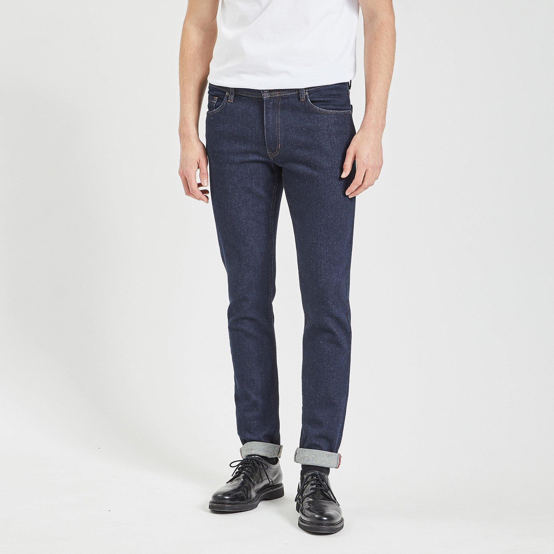 Jean slim #Tom brut Bleu Homme