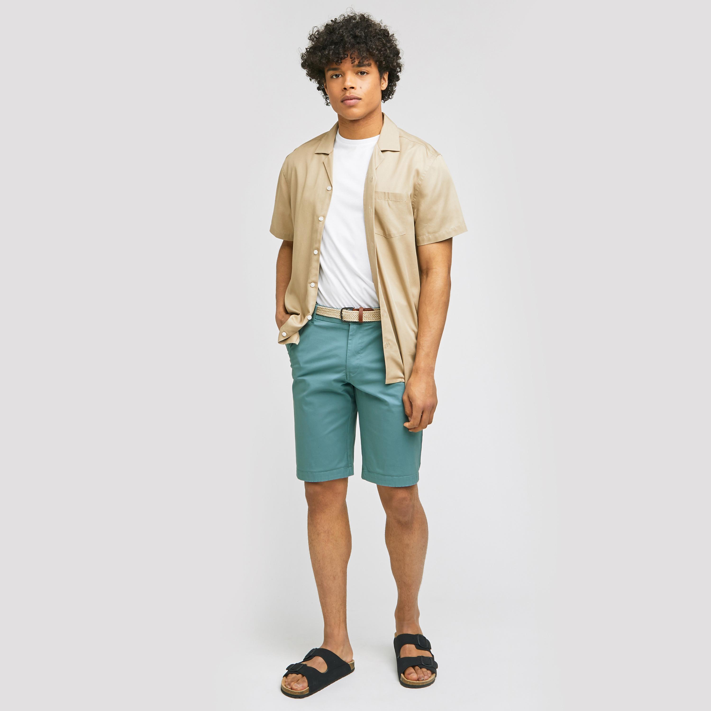 Bermuda chino avec ceinture Vert/Kaki Homme