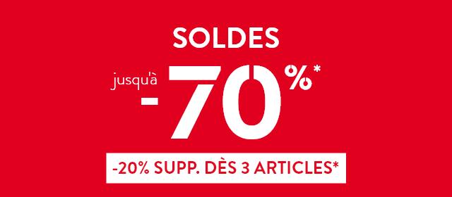 Soldes jusqu'à -70%