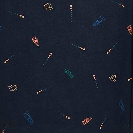 Chemise slim micro print - Bleu Fantaisie